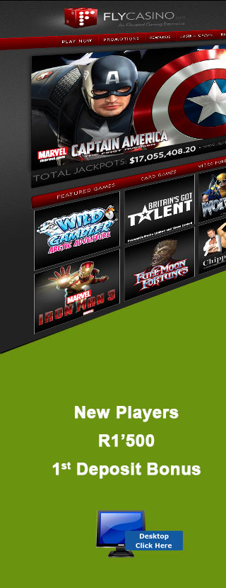 New Players R1'500 1st Deposit Bonus At Fly Casino Online Casino