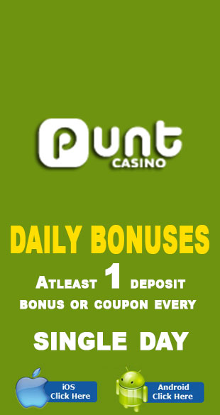 Get daily bonuses at Punt Casino