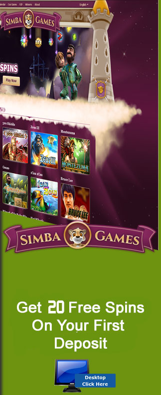 Simba Games Are Offering All New Players 20 Free Spins On Their First Deposit