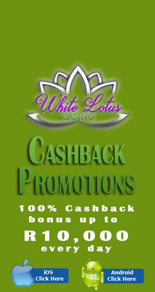 Get a daily cashback bonus at White Lotus Casino