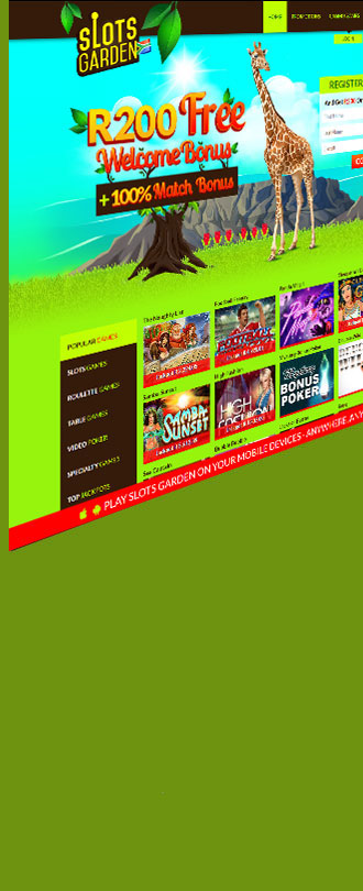 Sign Up At Slots Garden Casino And Start Off With A R200 No Deposit Bonus