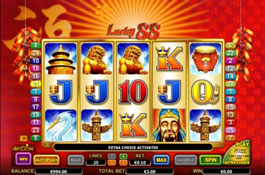 Lucky 88 Aristocrat Casino Game Screenshot