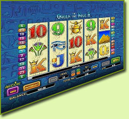 Aristocrat Queen Of The Nile 2 Slot Game Screenshot