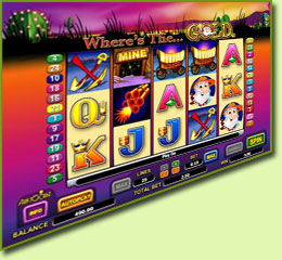 Aristocrat Where's The Gold Slot Game Screenshot