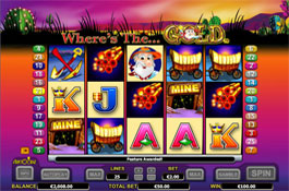 Where's the Gold Aristocrat Casino Game Screenshot