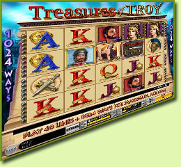 IGT Treasures Of Troy Slot Game Screenshot