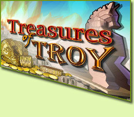 IGT Treasures Of Troy Slot Game Logo