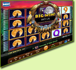 IGT Wild Wolf Slot Game Screenshot