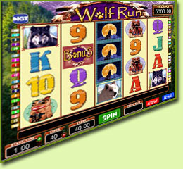 IGT Wolf Run Slot Game Screenshot