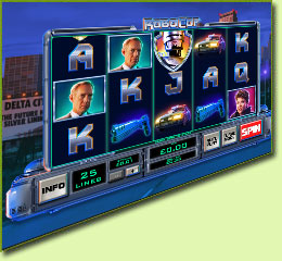 Playtech Robocop Slot Game Screenshot