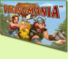 Playtech Viking Mania Slot Game Logo