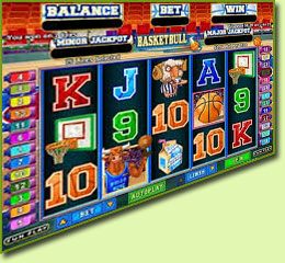 RTG BasketBull Slot Game Screenshot