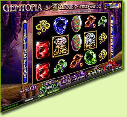 RTG Gemtopia Slot Game Screenshot
