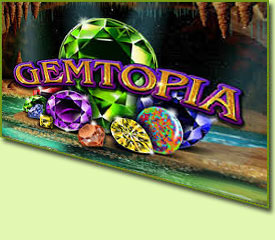 RTG Gemtopia Slot Game Logo
