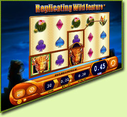 WMS Gaming Buffalo Spirit Slot Game Screenshot
