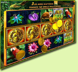 WMS Gaming Jungle Wild Slot Game Screenshot