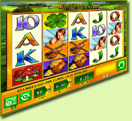 WMS Gaming Leprechauns Fortune Slot Game Screenshot