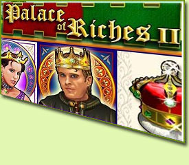 WMS Gaming Palace Of Riches II Slot Game Logo